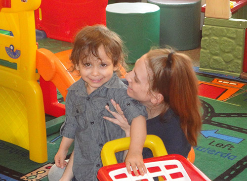 A mother and her child share quality time during our Parents as Teachers program.